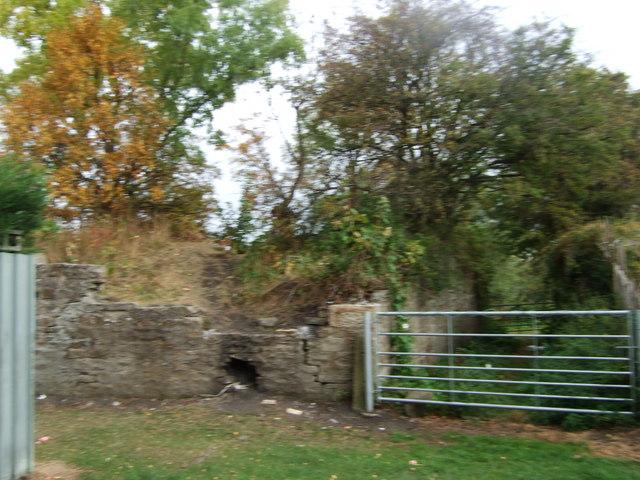 Former passage beneath old railway line