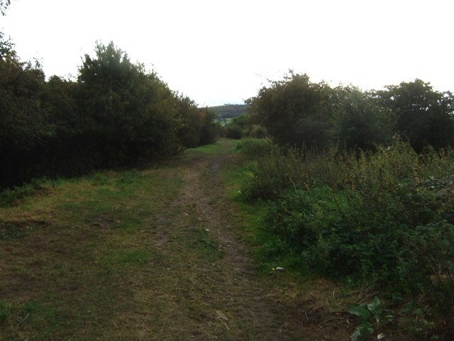 Line of former colliery inclined rail