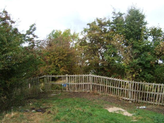 Fenced off former rail junction