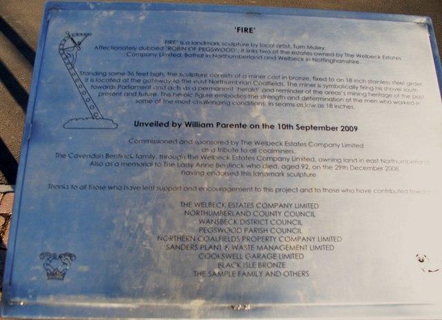 'FIRE' information board.