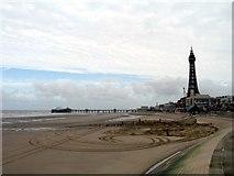 SD3036 : Blackpool Beach by Gerald Massey