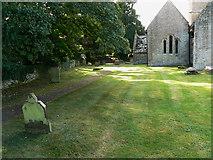 SO9700 : Churchyard, St Matthew's church, Coates by Brian Robert Marshall