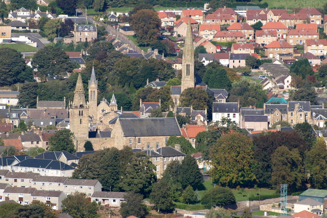 View of Cupar from Hill of Tarvit