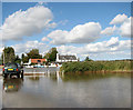 TG4001 : Reedham Ferry - flooded car park by Evelyn Simak