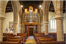 SK6443 : The new organ and millennium carpet in St. Helen's Church by johnfromnotts