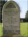 ST8992 : Gardner gravestone at St Mary's Tetbury by Paul Best