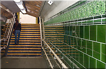 TQ2882 : Ceramic tiles in Regents Park underground station by Andy F