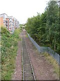 NT2774 : Railway line, Easter Road by kim traynor