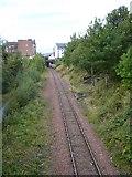 NT2674 : Railway line from Crawford Bridge by kim traynor