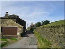 SE0927 : Pule Green Lane - Ploughcroft Lane by Betty Longbottom
