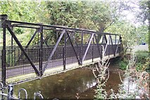 TR1558 : Footbridge over Great Stour River by David Anstiss