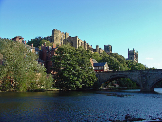 Framwellgate Bridge, the Castle and Cathedral