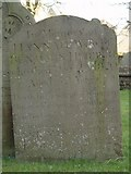 ST8992 : Benjamin Herbert gravestone St Mary's Tetbury. by Paul Best