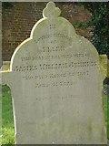 ST8992 : Jenkins gravestone St Mary's Tetbury. by Paul Best
