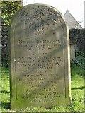 ST8992 : McMahon family gravestone St Mary's Tetbury. by Paul Best