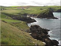 SW9681 : Doyden Point viewed from Kellan Head by Philip Halling