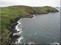 SW9781 : Derngate Cove from Scarnor Point by Philip Halling