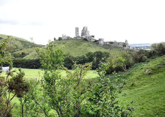 Corfe Castle from the Purbeck Way