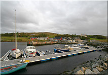 HU4063 : Voe Harbour floating jetty by Andy Waddington