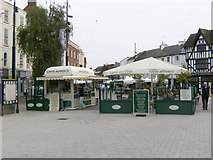 SO5140 : Caffe' Alfresco, High Town, Hereford. by Alan Spencer