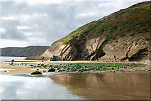 SM8422 : North end of the beach at Newgale, low water by Andy F