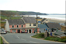 SM8422 : The A487 road approaching Newgale from the north by Andy F