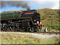 SE8495 : 'Oliver Cromwell' in Newtondale - close up by John S Turner