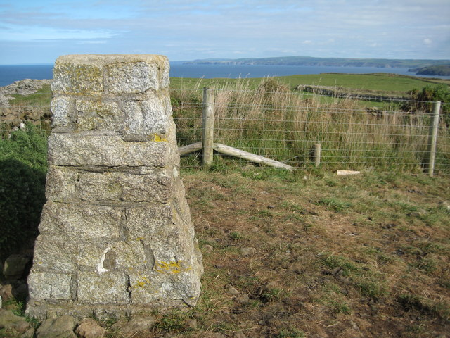 Trig point on Pentire Point