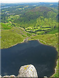 NY2807 : Bird's eye view of Stickle Tarn by K  A