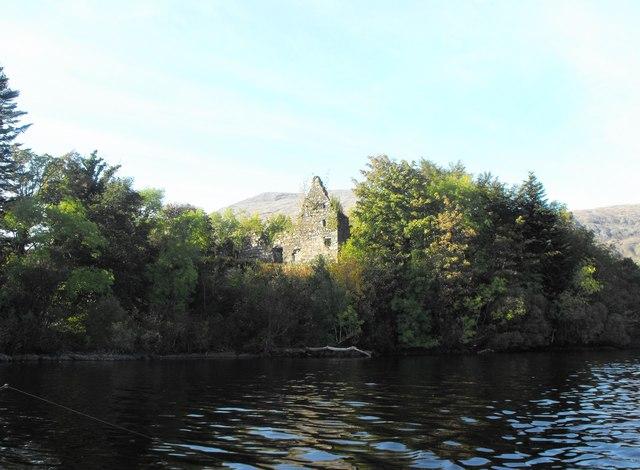 Fraoch Eilean Castle on Loch Awe