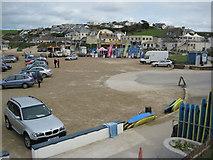 SW9378 : Beach parking at Polzeath by Philip Halling