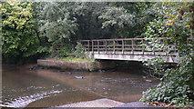 SU8135 : Footbridge at ford by Headley Mill by Shazz