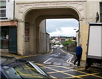 J4844 : Arch leading from Irish Street to the Irish Street Parking Ground by Eric Jones