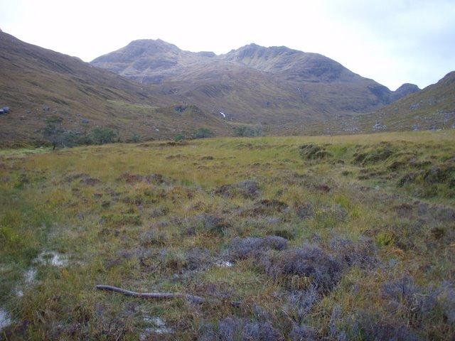 Boggy margin of the Abhainn Gleann na Muice