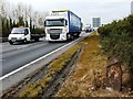 TL3863 : The busy A14 trunk road by Mike W Hallett