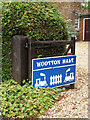 TF6324 : Wootton Halt - the sign by Evelyn Simak