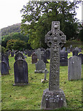 NY3704 : Cross, St Mary's Community Church graveyard by Kenneth  Allen