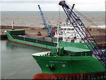 NZ4349 : Arklow freighters in Seaham Inner Harbour by Andrew Curtis