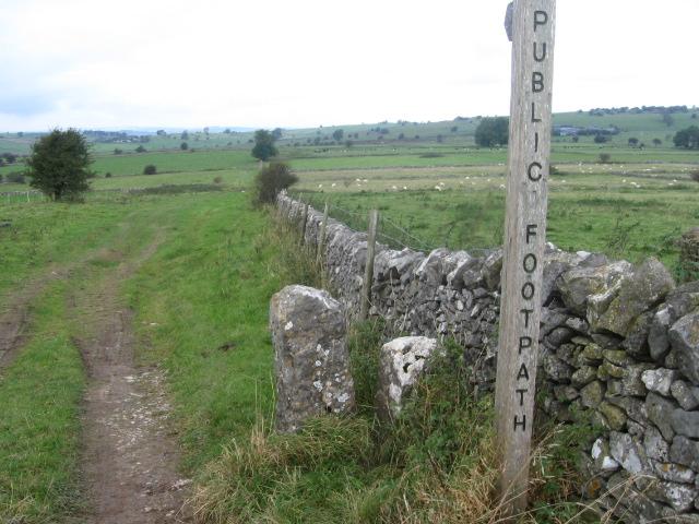Footpath near Whitelow Mines