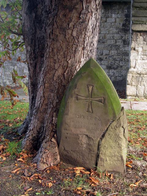 Cracked Gravestone at St Mary's Church