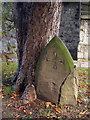 TR0042 : Cracked Gravestone at St Mary's Church by Oast House Archive