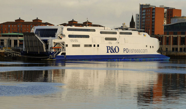 "The P&O ""Express"" at Belfast"