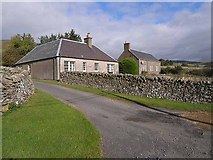NT3728 : Cottages near Tinnis Farm by Oliver Dixon