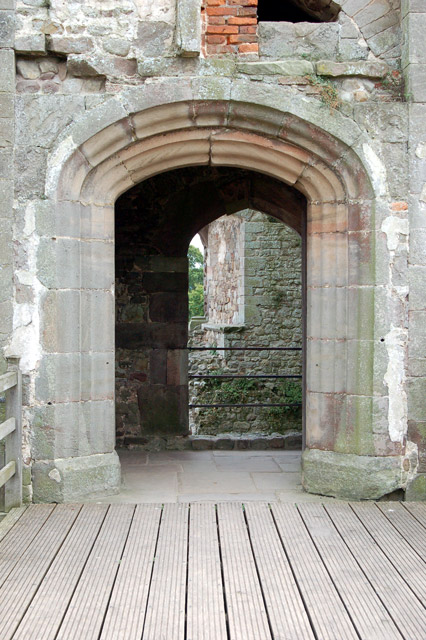 Entrance to the Great Tower at Raglan Castle