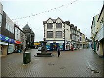 SH4862 : East end of Caernarfon's shopping area by Jonathan Billinger