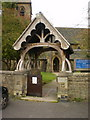SD9749 : St Mary the Virgin, Carleton-in-Craven, Lych Gate by Alexander P Kapp