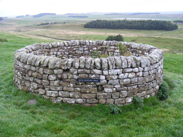 19th century well on English side of Hadrian's wall at Housesteads Fort