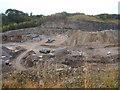 SK2265 : Shiningbank Quarry, work still in progress by Peter Barr