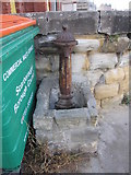 TA0487 : Rusty former drinking fountain at South Bay by John S Turner