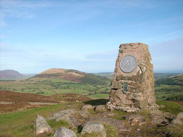 Triangulation pillar on Gowbarrow Fell